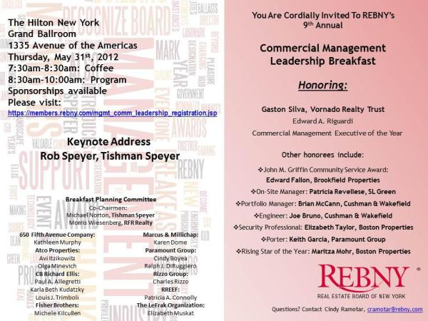rob speyer keynote at REBNY