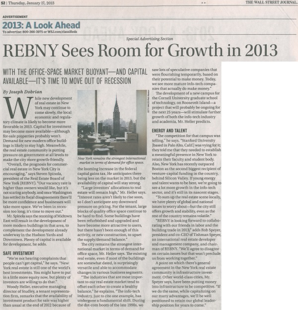 REBNY Sees Room For Growth in 2013